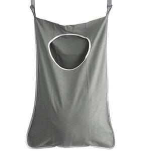 Kirli Elbise Yıkama Makineleri Wall için Kapı Asma Çamaşır Çanta Çamaşır Sepet ile Hooks Asma Banyo Depolama Bag Monteli