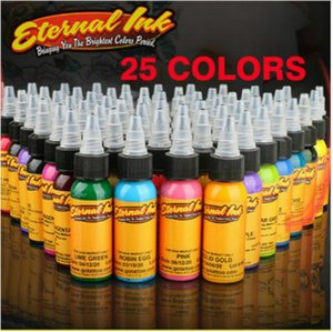 professional 25 bottle 30ml   bottle Tattoo Ink Set Permanent Make-up Art Pigments 25PCS Eyeliner Pen Tattoo Cosmetics Lip Gloss