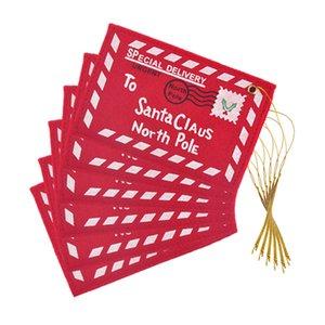 Новогоднее украшение праздника Для дома красных + белого Нетканые Конверт рождественских открыток Сумки украшения enfeites конвертов для подарочных карт