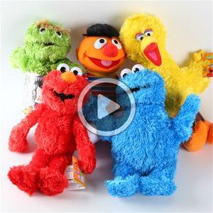 Sesame Street muñeca 5 estilos felpa Animales juguetes de peluche juguetes de Elmo unisex bebé juegan el envío libre