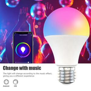 Smart Wifi Light Bulb 9W RGBCW Dimming Bluetooth network Voice control Long-range Scene mode switching Music rhythm Lamp