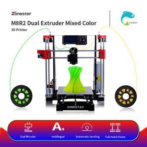 Drucker Zonestar M8 Dual Extruder Mischfarbe Voll schwarz P802 Metall Classic i3 Open Source Reprap 3D Drucker DIY Kit