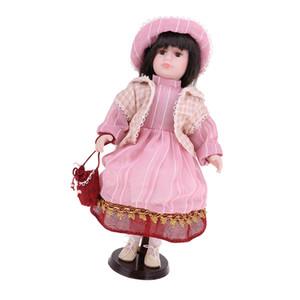 Poupée 16inch Céramique Standing victorienne élégante Porcelain Doll Décoration Enfants Enfants Adultes cadeau de Noël