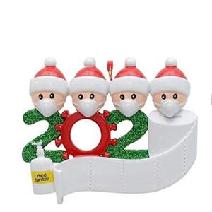 2020 Карантин Рождество рождения украшение партии подарков персонализированный продукт висячие украшения, Pandemic -социальная Дистанцирование-Family