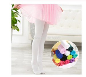Spring autumn candy color children tights for baby girls kids cute velvet White pantyhose stockings for Ballet dance girl tights