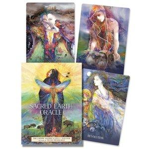 45pc Sacred Earth Oracle Cartes Tarot English Version Jeux de société Lecture de carte de tarot pour Party Divination destin Divertissement yxlDyn xhlight