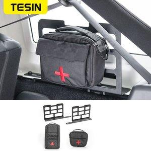 TESIN Car Trunk Rack Luggage Carrier Storage Rack Camping Mat Storage Bag Tool kit for Wrangler JK JL 2007-2020 Accessories
