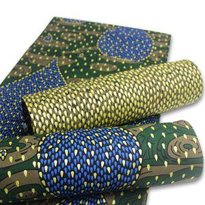 Nigeriana Lace Tecidos Hot Sale Africano de Ouro Wax Imprimir Ankara algodão de alta qualidade verdadeira Wax 2020 vestido pagne