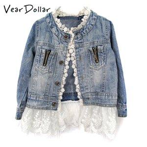 Casaco Crianças Cowboy menina Denim Y200831 Jacket Brasão VearDoller Meninas Outono New Moda Estilo Patchwork Lace Infantil