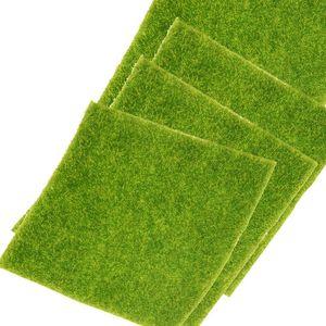 1PC 15x15cm DIY Artificial Fake Moss Decorative Garden Simulation Plants Lawn Turf Green Grass Micro Landscape Decoration