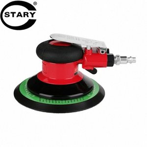 STARY 6 Inch Pneumatic Air Sander Heavy Duty Air Dual Action Aleatório Orbital Sander Pad pneumático Power Tool 0dYx #