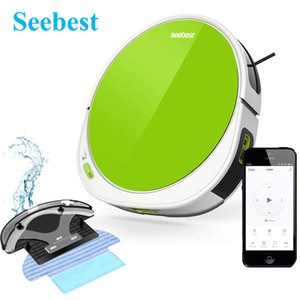 Seebest Robot Vacuum Cleaner F780A Suction Sweep Mop Vacuum Roll Wiper 4in1 Wifi App&Voice Control 120 min Runtime Self-Charging