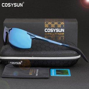 COSYSUN Männer polarisierte Sonnenbrille Aluminiumlegierung Sonnenbrille Mann-Spiegel-Objektiv polarisierte Driving Männer 6 Farbe