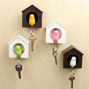 Creativo nido dell'uccello del passero House Key catena anello a muro gancio titolari Keys Hanger Fischio dell'uccello titolari di magazzino, pallet Keys Organizer
