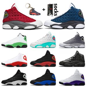 Jumpman 13 13s retro 13 Shoes Jumpman Red Flint Mulheres Mens Basketball Jordânia Retro Soar Rosa Verde Chicago Hiper Real 13 sneakers trainer