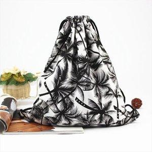 LJL Frauen Baum Rucksack 3D-Druck-Tasche Rucksack-Beach-Reisen Lady Rucksack Tragbare Tragetasche
