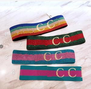 Дизайнер Упругие ободки для женщин Hot Luxury БЛАНК шарф дамы Hairbands головных уборов Streetwear ювелирных изделий волос подарка
