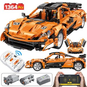 Veículo Criador Brinquedos App Rc 1364pcs Sports Technic Cidade para blocos de controle Moc Edifício Corrida remoto Non Car Crianças Rc Tijolos pHEbx