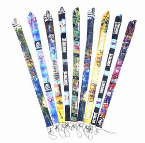 New 20PCS Classic Fortnite Key Lanyards ID Badge Holder Keychain Straps for Mobile Phone Wholesale Free Shipping