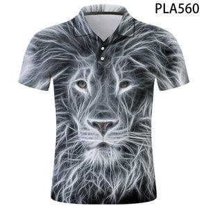 Lion shirt animal personality funny top slim 3D printed T-shirt hip hop cool men's clothing children 2020 new summer top