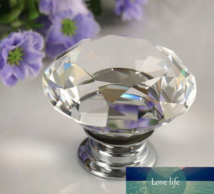 40mm Diamond Crystal Drawer Pulls Knobs Glass Alloy Door Drawer Cabinet Wardrobe Pull Kitchen Cabinet Handle Knobs