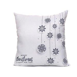 Nouvelle arrivée coreless Taie Creative Noël coton et taie d'oreiller Taie d'oreiller automatique Coussin