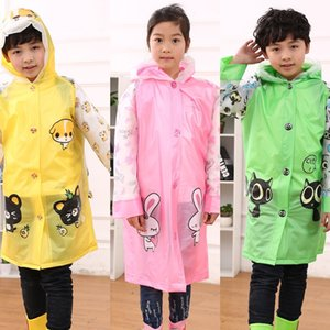 DnjxH Cartoon boys for raincoat and girls Korean Inflatable schoolbag with style thickened poncho Inflatable schoolbag