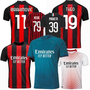 2019 2020 2021 AC لكرة القدم الفانيلة IBRAHIMOVIC THEO S.CASTILLEJO BRAHIM ميلان الذكرى ال120 20 21 الرجال والاطفال قميص كرة القدم 4XL
