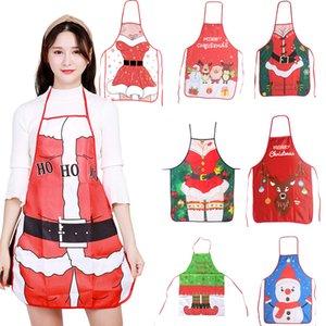 Новогодние украшения для дома Санта-Клауса рождественские Фартук Xmas Декор Noel Navidad 2020 Новый год Рождество Подарок 50см * 70см