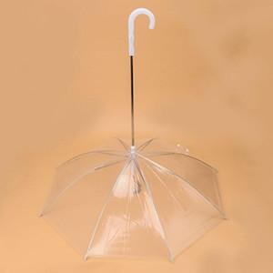 Transparent Pet Regenschirm mit Leine Hund Regenschirm Puppy Dry Comfortable in Regen Einbau-Leine Regenschirm Pet Supplies AAE1613