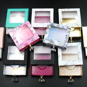 EPACK Plaza de la pestaña falsa de empaquetado de la caja 3D Mink Lashes cajas vacías Lash Caso chould elegir color y mezcla