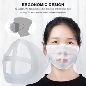 Máscara 3d soportes transpirable válvula boca máscara soporte lápiz labial protección cara mascarilla soporte alimento grado de silicona