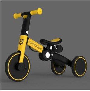2020 Nouveau tricycle scooter enfants jouet extérieur 5 en 1 marcheur draisienne 1 à 6 ans scooter bébé chariot enfants