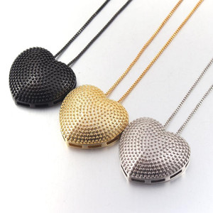 MHS.SUN Newest Luxury Big Heart Pendant Necklace For Women Jewelry Black Gold Color Chain Necklace Choker Girls Gift 1PC