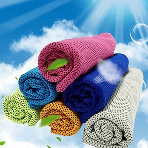 1pcs de secado rápido al aire libre Toalla física de enfriamiento portátil 100x30cm Gimnasio fría sensación Fitness Deportivo Toallas de enfriamiento rápida