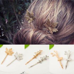 تشكيل أوراق شجرة مع الطيور على الراتنج فرع الماس دبوس الذهب أو الفضة مطلي للمرأة clipps2331 شعر البنات