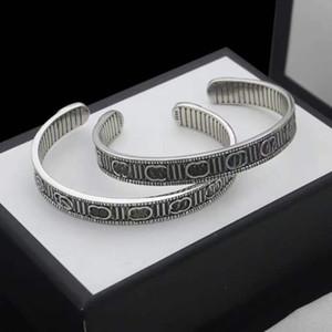 Vintage Çift Bilezik Açılış Ayarlanabilir Boyutu Bilezik Moda Kişilik Bilezik Yüksek Kaliteli Gümüş Kaplama Takı Kaynağı