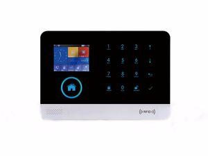 الأمن GSM اللاسلكية IP كاميرا فيديو WIFI الرئيسية مراقبة الأمن ونظام إنذار لاسلكي صفارة الإنذار من الحريق كاشف الدخان