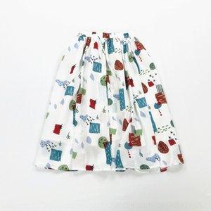 zKZX3 الشيفون جديدة المطبوعة الإناث مظلة الشيفون مطوي تنورة تنورة الكتابة على الجدران طالب مظلة EDUdh الصيف