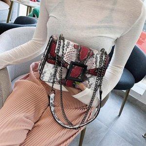 Womens Bag Snake Print Shoulder Bag Vintage Crossbody Womens Shoulder Crossbody Bags For Women Chain#G20 gRgk#