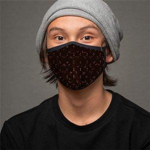 Moda mascarilla de las máscaras a prueba de polvo Sunproof Mujeres Mujeres lavable y transpirable Cara diseñador de la máscara de moda de la impresión de la boca de mufla-Máscaras Deporte 2020