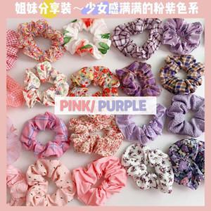 40 Farben Frauen-Haar-Gummibänder Blumendruck-elastische Haar-Bänder Großen Elastics Krawatten Scrunchies Pony Tails-Halter-Haar-Riegel-Seil Schmuck Neuer