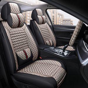 2020 Últimas linho luxo estilo tampa do assento de carro para Honda CRV XRV Fit Civic Cidade Crider VEZEL Accord para Auto A maioria dos carros Protector 5color-de-rosa