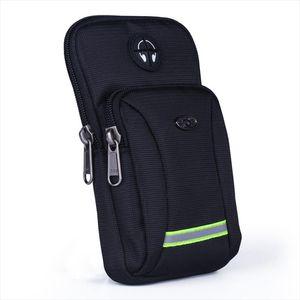 Men Women Waterproof Oxford Cell Mobile Phone Case Cover Waist Pack Hook Armband Belt Bags Purse Small Shoulder Messenger Bags