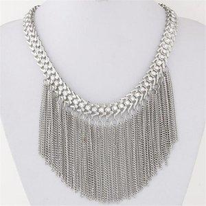 Zôshi moda 2020 marca grande Woven longa borlas colar gargantilha colar vintage declaração maxi colar de mulheres de jóias por atacado