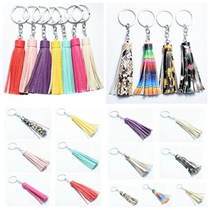 Keying Leather Tassel Key Chain Tassel Keychain Bag Pendant Accessories Women Creative Key Chain Fashion Jewelry Charm Party Favor DHD1387