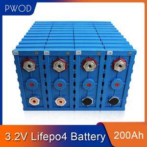PWOD 16PCS GRADE A 3.2V 200AH CALB LiFePO4 Batterie Lithium-Eisen-Phosphat-Zellen solar12V 24V 48V Zellen packen EU US TAX FREE