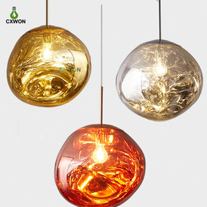 Nordic LED glass Chandelier Lava Ball Pendant Lamps Hanging Lamps Bedroom Kitchen Chandelier Modern Personality Light Melt