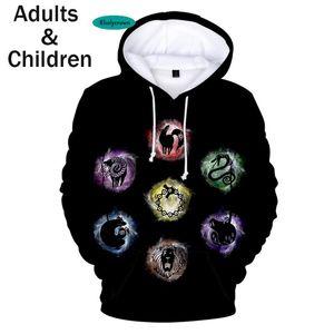 2020 hot sell Hooded 3D The Seven Deadly Sins Hoodies Men Women Sweatshirts Harajuku Autumn Kids Hoodie boys girls pullovers