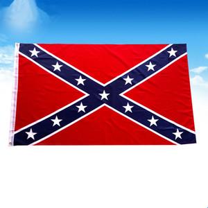 Bandera del sur de Estados Unidos Bandera de batalla confederada 150 * 90cm Poliéster Banderas Nacionales Las dos caras impresas banderas de la guerra civil HHE1463